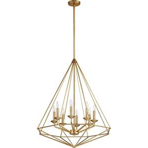 Bennett Aged Brass Eight-Light Pendant