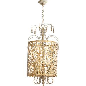 Leduc Florentine Gold 19-Inch Five-Light Pendant