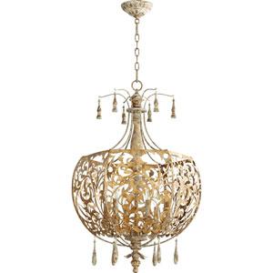 Leduc Florentine Gold 22-Inch Six-Light Pendant