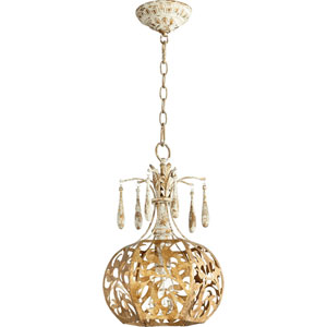 Leduc Florentine Gold 11-Inch One-Light Round Pendant