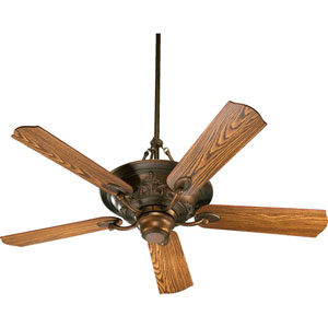 Salon Three-Light Corsican Gold 56-Inch Ceiling Fan