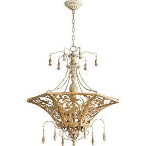 Leduc Florentine Gold 27-Inch Six-Light Pendant