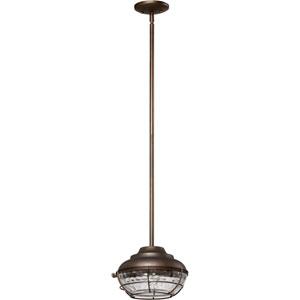 Hudson Oiled Bronze 10-Inch One Light Outdoor Pendant