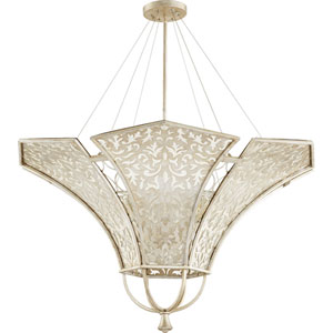 Bastille Aged Silver Leaf 42-Inch Eight-Light Pendant