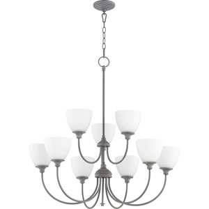 Celeste Zinc Nine-Light 32-Inch Chandelier