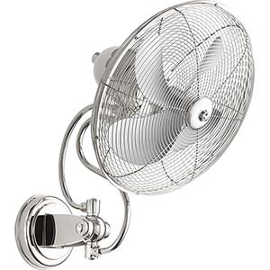Piazza Polished Nickel  18-Inch Patio Fan