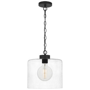 Abner Matte Black One-Light Pendant