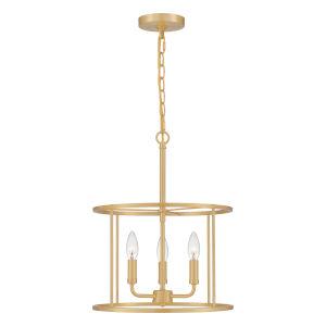 Abner Aged Brass Three-Light Pendant
