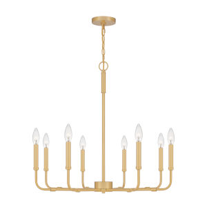 Abner Aged Brass Eight-Light Chandelier
