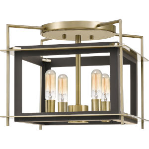 Architect Western Bronze Four-Light Semi-Flush Mount