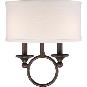 Adams Leathered Bronze Two-Light Wall Sconce