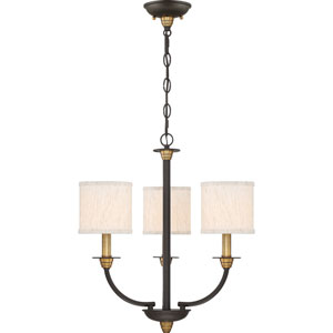 Audley Old Bronze Three-Light Chandelier