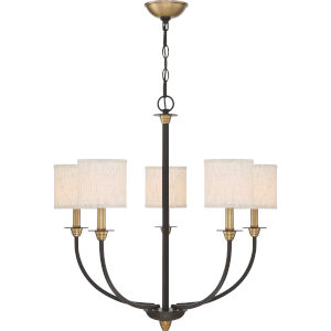 Audley Old Bronze Five-Light Chandelier