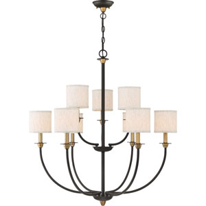 Audley Old Bronze Nine-Light Chandelier