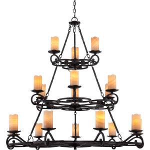 Armelle Imperial Bronze Eighteen-Light Chandelier