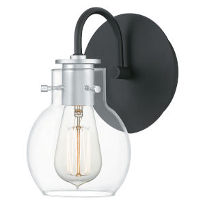 Andrews Earth Black One-Light Wall Sconce