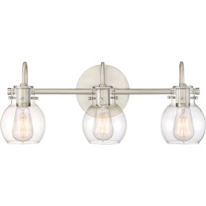 Andrews Antique Nickel Three-Light Bath Light