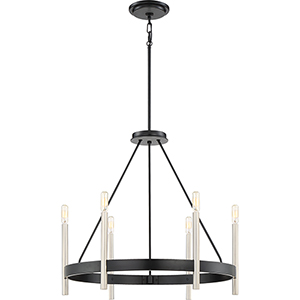 Anthem Mystic Black Six-Light Chandelier