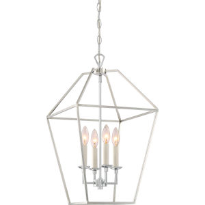 Aviary Polished Nickel 13-Inch Four-Light Pendant