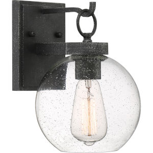 Barre Gray Ash 10-Inch One-Light Outdoor Lantern with Clear Seedy Glass
