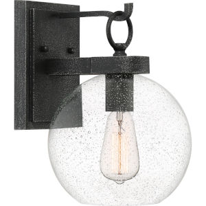 Barre Gray Ash 13-Inch One-Light Outdoor Lantern with Clear Seedy Glass