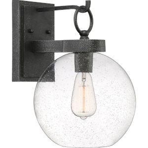 Barre Grey Ash 14-Inch One-Light Outdoor Lantern with Clear Seedy Glass
