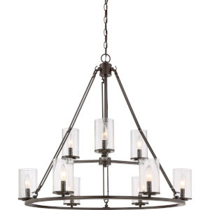 Buchanan Western Bronze Nine-Light Chandelier