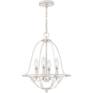 Bradbury Antique White Four-Light Chandelier