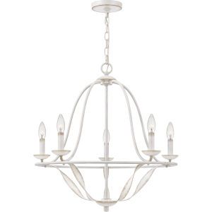 Bradbury Antique White Five-Light Chandelier