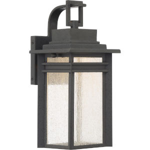 Beacon 12-Inch Stone Black LED Outdoor Wall Sconce