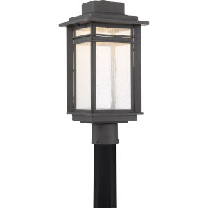 Beacon Stone Black LED Outdoor Post