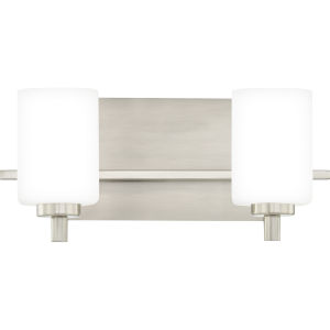 Brighton Brushed Nickel Two-Light Bath Vanity
