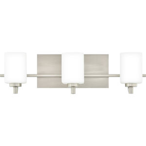 Brighton Brushed Nickel Three-Light Bath Vanity