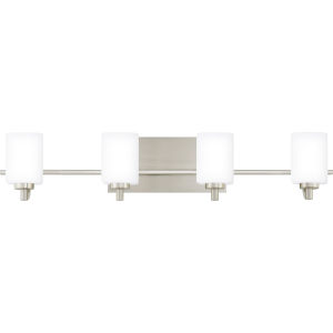 Brighton Brushed Nickel Four-Light Bath Vanity