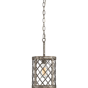 Booth Rustic Gold One-Light Mini Pendant