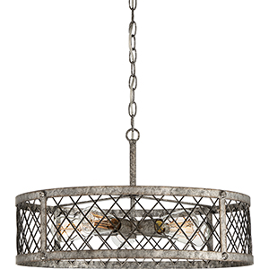 Booth Rustic Gold Five-Light Pendant