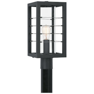 Bimini Earth Black One-Light Outdoor Post