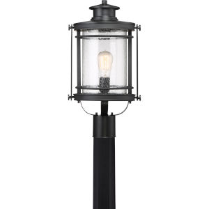 Booker Mystic Black One-Light Outdoor Post Lantern
