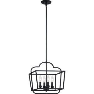 Blanche Matte Black Four-Light Pendant