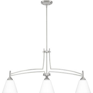 Billingsley Brushed Nickel 38-Inch Three-Light Linear Chandelier