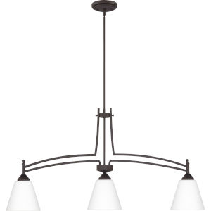 Billingsley Old Bronze 38-Inch Three-Light Linear Chandelier
