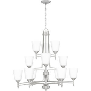 Billingsley Brushed Nickel 32-Inch 12-Light Chandelier