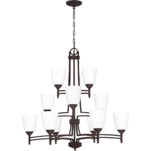 Billingsley Old Bronze 32-Inch 12-Light Chandelier