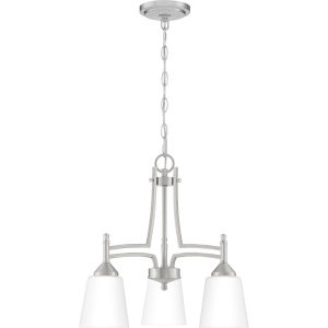 Billingsley Brushed Nickel 18-Inch Three-Light Chandelier