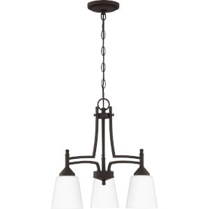 Billingsley Old Bronze 18-Inch Three-Light Chandelier