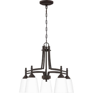 Billingsley Old Bronze 22-Inch Five-Light Chandelier