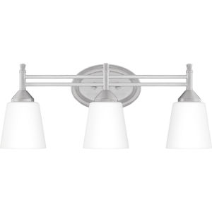 Billingsley Brushed Nickel 22-Inch Three-Light Bath Vanity