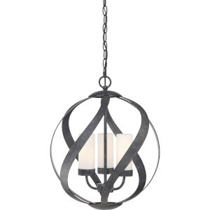 Blacksmith Old Black Finish Three-Light Pendant