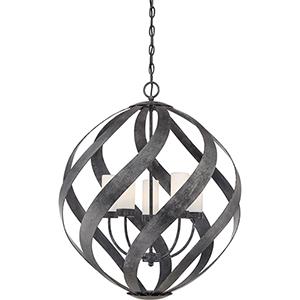 Blacksmith Old Black Finish Five-Light Pendant