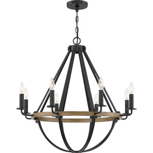 Bartlett Earth Black Eight-Light Chandelier